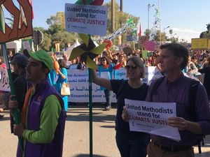 United Methodists march for climate justice