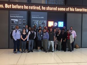 Students from PSR's immersion visited NPR.