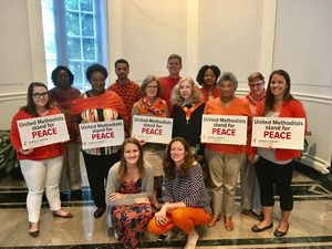 GBCS staff in orange for gun violence awareness