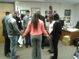 Students from Fisk University hold pray-in.