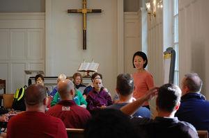 Seminar group in Simpson Chapel