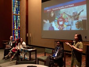 "Church and Society hosts an expert panel, ""Education to End Inequality and Promote Peace,""to discuss the UN's goal of attaining quality education for all."