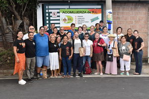 group photo outside women's cooperative