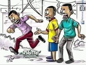 COVID-19 Nigeria cartoon