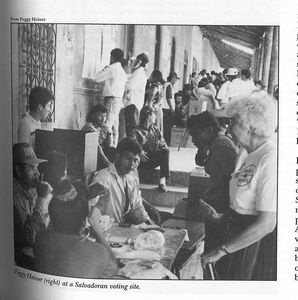 Church and Society staff observe 1994 El Salvador elections