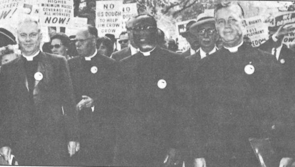 National Council of Churches delegation to the 1963 March on Washington for Jobs and Freedom. 