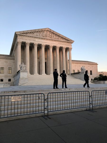 Supreme Court with police outside