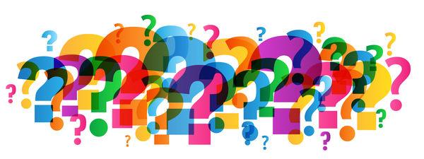 question marks multicolored