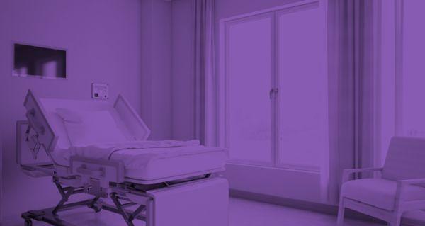 Hospital Room in Purple