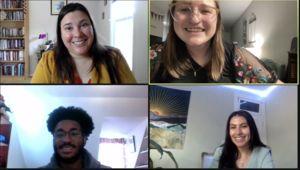 group photo of 2021 EYA intern class