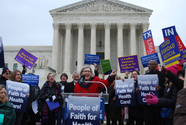 Rally in front of the U.S. Supreme Court for Healthcare